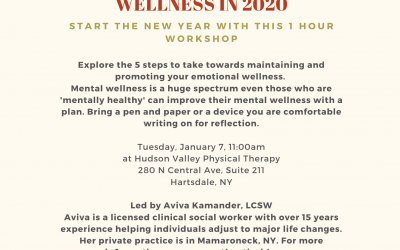 Optimize your mental wellness in 2020